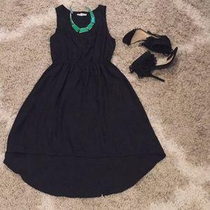 Black Hi-Lo hem dress from Cotton On
